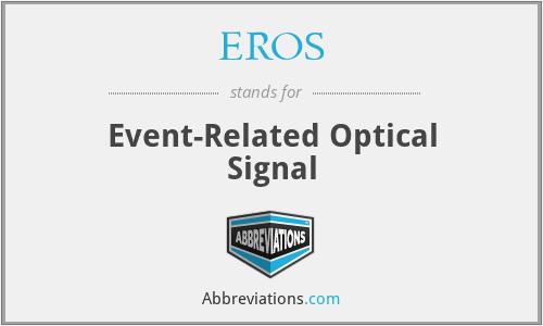 EROS - Event-Related Optical Signal