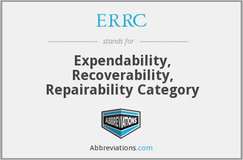 ERRC - Expendability, Recoverability, Repairability Category