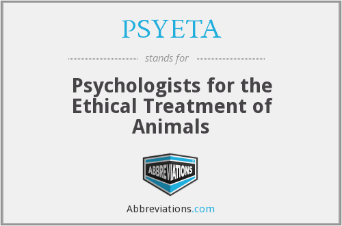 PSYETA - Psychologists for the Ethical Treatment of Animals