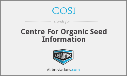 COSI - Centre For Organic Seed Information