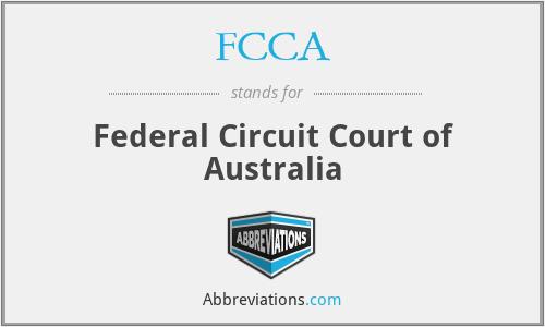 FCCA - Federal Circuit Court of Australia