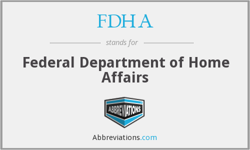 FDHA - Federal Department of Home Affairs