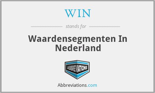 WIN - Waardensegmenten In Nederland