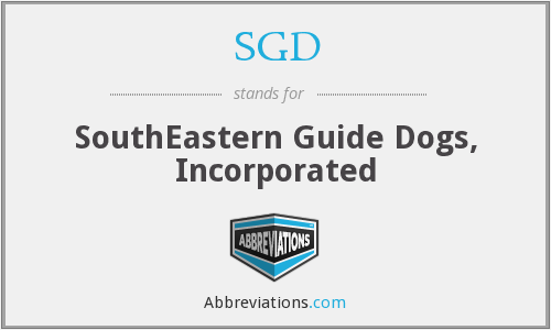 SGD - SouthEastern Guide Dogs, Inc.
