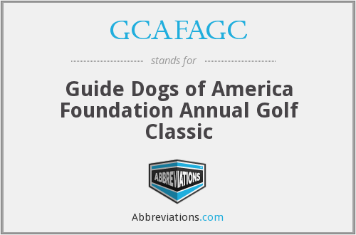 What does GCAFAGC stand for?
