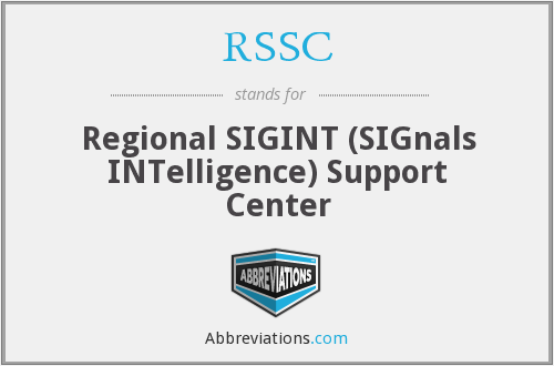RSSC - Regional SIGINT (SIGnals INTelligence) Support Center