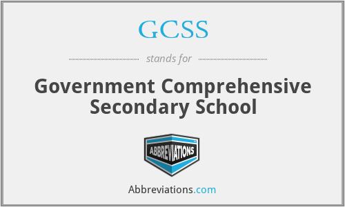 GCSS - Government Comprehensive Secondary School