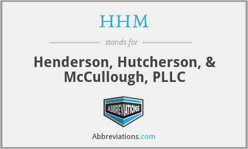 HHM - Henderson, Hutcherson, & McCullough, PLLC