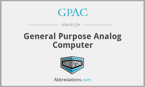 GPAC - General Purpose Analog Computer