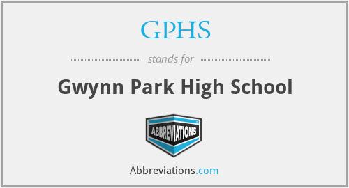 GPHS - Gwynn Park High School