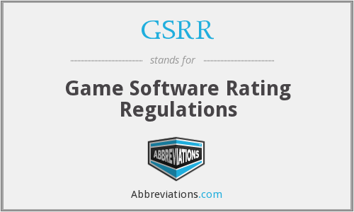 What does GSRR stand for?