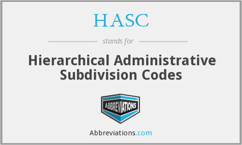 HASC - Hierarchical Administrative Subdivision Codes