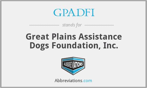 GPADFI - Great Plains Assistance Dogs Foundation, Inc.