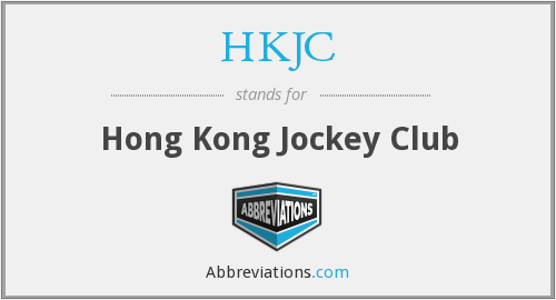 What does HKJC stand for?