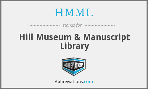 What does HMML stand for?