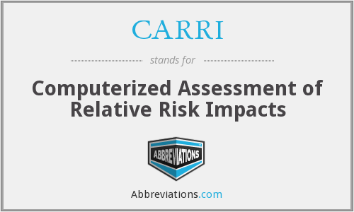 CARRI - Computerized Assessment of Relative Risk Impacts
