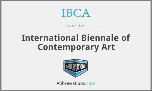 IBCA - International Biennale of Contemporary Art