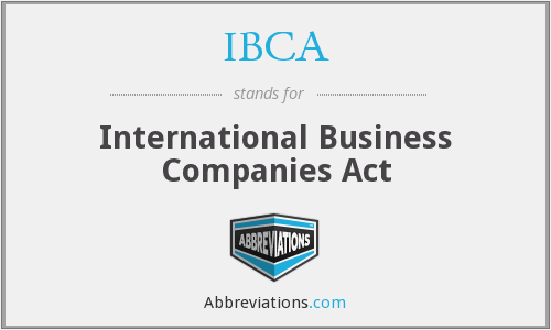 IBCA - International Business Companies Act
