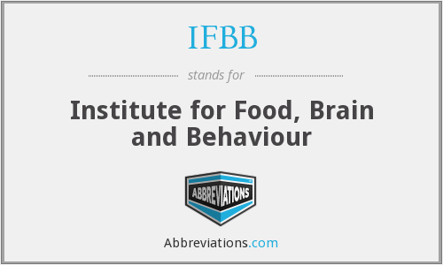 IFBB - Institute for Food, Brain and Behaviour