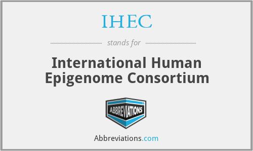 IHEC - International Human Epigenome Consortium