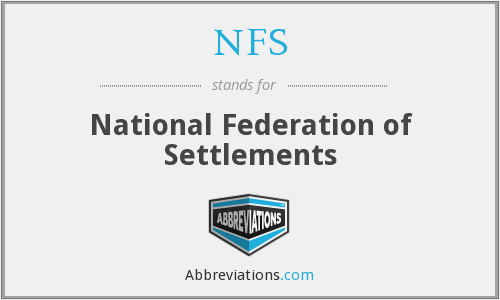 NFS - National Federation of Settlements
