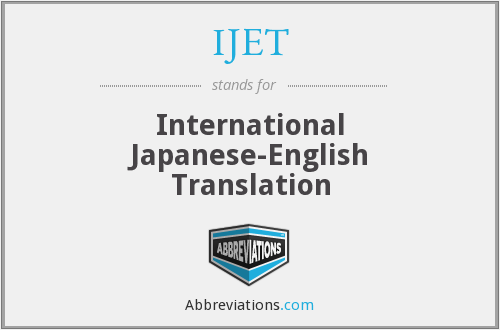 What does IJET stand for?