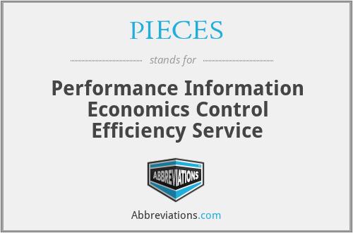 PIECES - Performance Information Economics Control Efficiency Service