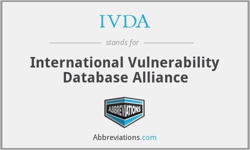 IVDA - International Vulnerability Database Alliance