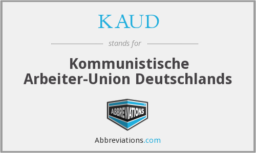 What does KAUD stand for?