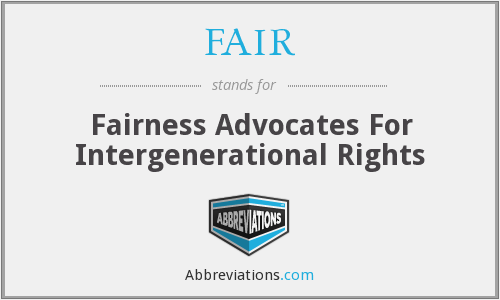 FAIR - Fairness Advocates For Intergenerational Rights
