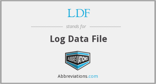 LDF - Log Data File