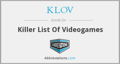 What does KLOV stand for?
