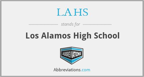 LAHS - Los Alamos High School