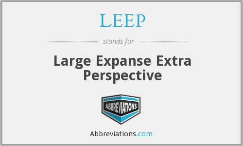 LEEP - Large Expanse Extra Perspective