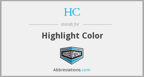 HC - Highlight Color