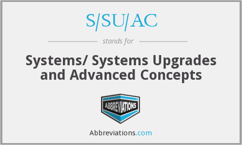 What does S/SU/AC stand for?