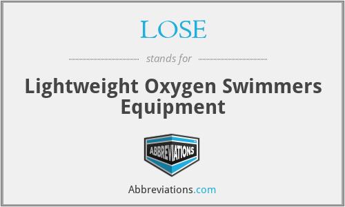 LOSE - Lightweight Oxygen Swimmers Equipment