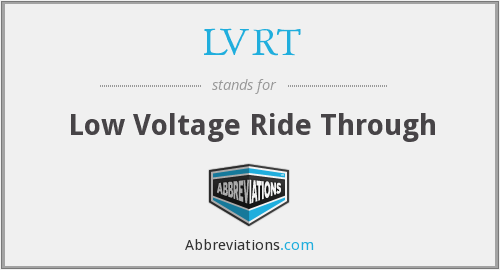 What does LVRT stand for?