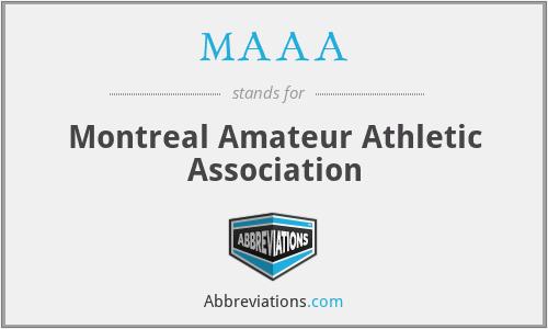 MAAA - Montreal Amateur Athletic Association