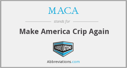 What does MACA stand for?