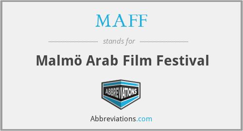 MAFF - Malmö Arab Film Festival