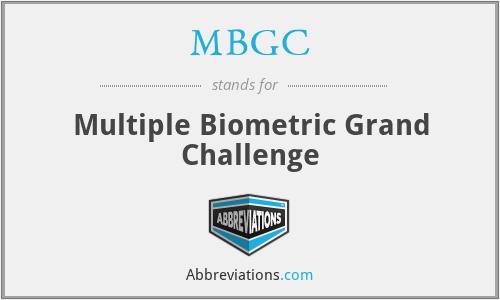 MBGC - Multiple Biometric Grand Challenge