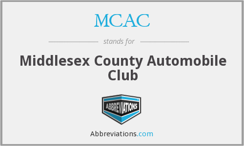 MCAC - Middlesex County Automobile Club