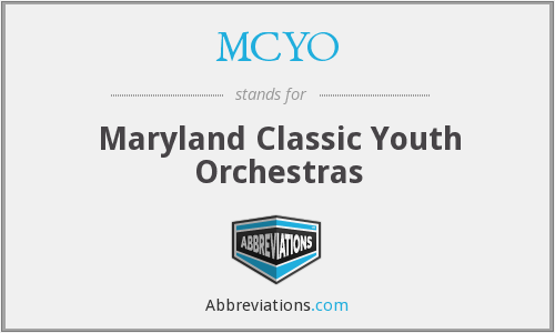 MCYO - Maryland Classic Youth Orchestras
