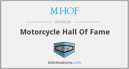 MHOF - Motorcycle Hall Of Fame