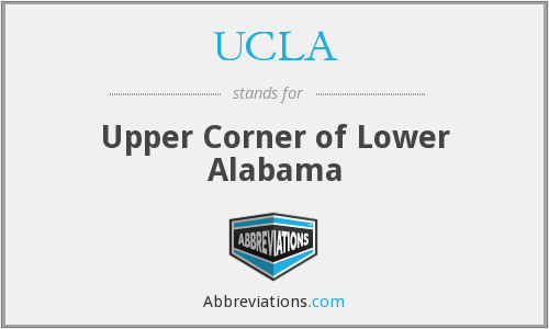 UCLA - Upper Corner of Lower Alabama