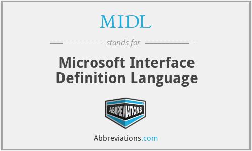 MIDL - Microsoft Interface Definition Language