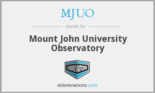 What does MJUO stand for?