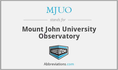 MJUO - Mount John University Observatory
