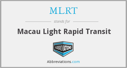 What does MLRT stand for?